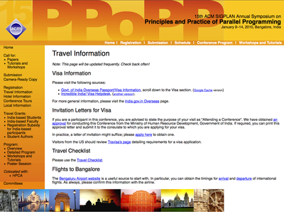 PPoPP 2010 Website